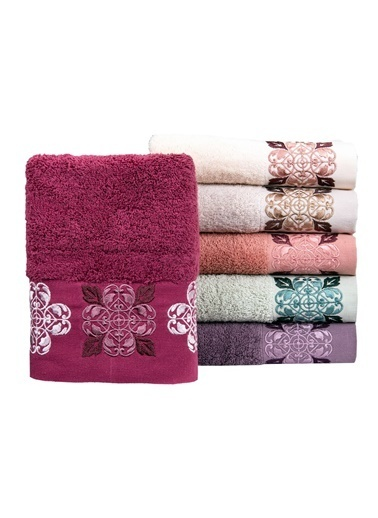 Minteks Pastoral Arel 50x90 6 lı 6 Renk Havlu Seti Renkli